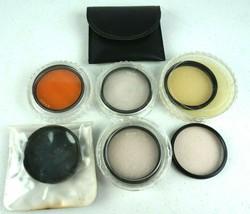 Lot of 6 52mm Lens Filters Polarizer Orange Skylight 1A Hoya Rolev M.G. - $23.34