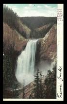 Great Falls Postcard 1906 Wyoming Yellowstone Park Curt Teich WY PC - $7.50