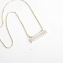 Kendra Scott Leanor Gold Pendant Necklace in Iridescent Drusy w Dust Bag... - $41.99