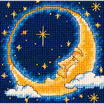 "Dimensions Mini Needlepoint Kit 5""X5""-Moon Dreamer Stitched In Thread - $16.30"