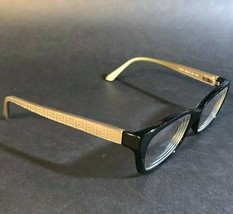 FENDI Black Cream Monogram Logo Rectangular Eyeglasses Frames F1034 001 135 - $65.45