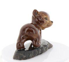 Hagen Renaker Miniature Baby Bear Cub Walking on Base Stepping Stones #2758 image 4