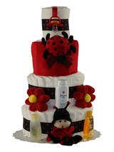 Lady Bug 3 or 4 Tier Diaper Cake - $129.00