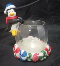 Home Trends Holiday Penguin Candleholder Christmas Winter Candle Holder NEW - $13.54