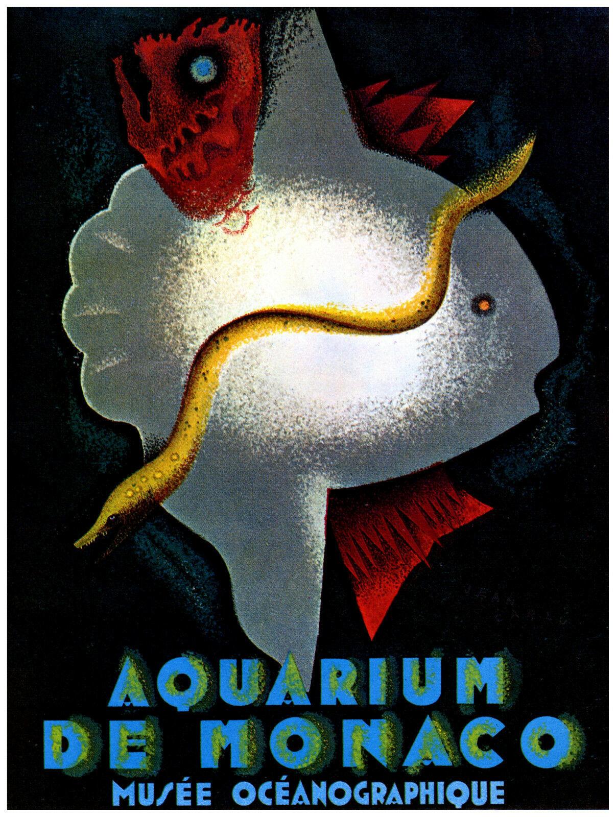 Quality POSTER.Monaco Aquarium Ocean Marine Fish.Home Interior Design.v03 - $9.90 - $79.20