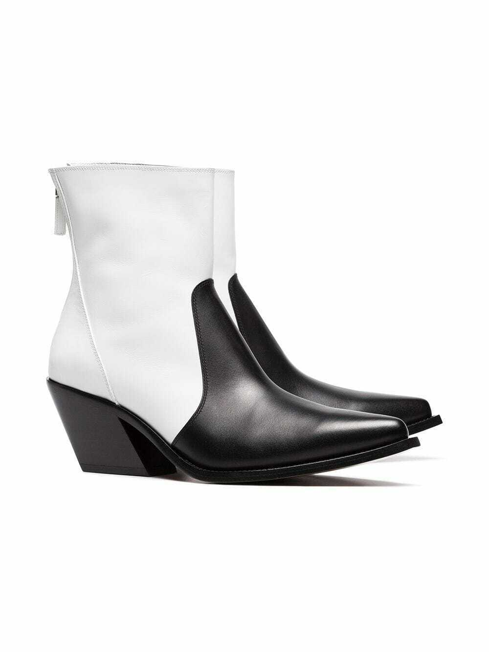 Givenchy Color Block Leather Cowboy Boots Size 36.5 MSRP: $1,295.00