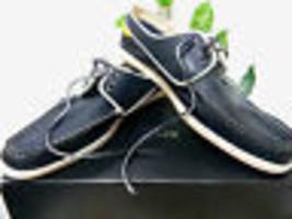 Lacoste Men's Navy Blue Yellow White Laces Sneakers Shoes Sz US 13 EU 47... - $98.99