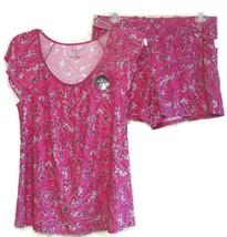 Alfani Printed Flutter Sleeve Top and Boxer Shorts Pajama Set SMALL - $16.82
