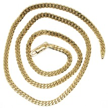 MASSIVE 18K GOLD GOURMETTE CUBAN CURB CHAIN 3.5 MM 24 IN. NECKLACE MADE IN ITALY image 2