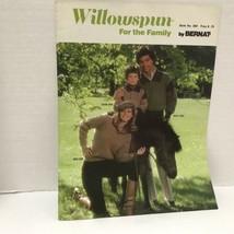Willowspun For The Family By Bernat Vtg 1980 Knitting Pattern Book - $9.89