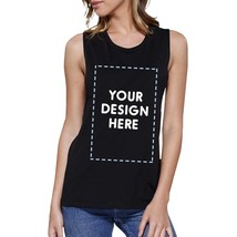 Custom Personalized Womens Black Muscle Top - $14.99