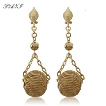 Fani gold wedding earrings 2020 Long Drop Dangle Earrings Women Wholesal... - $13.24