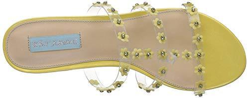 Blue by Betsey Johnson Women's SB-Arlyn Slide Sandal, Yellow, 7.5 M US image 5