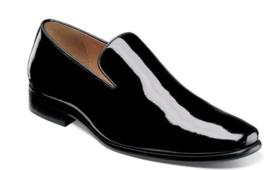 Florsheim Postino Plain Toe Slip On Tuxedo Shoes Black Patent 15178-004 - $94.00