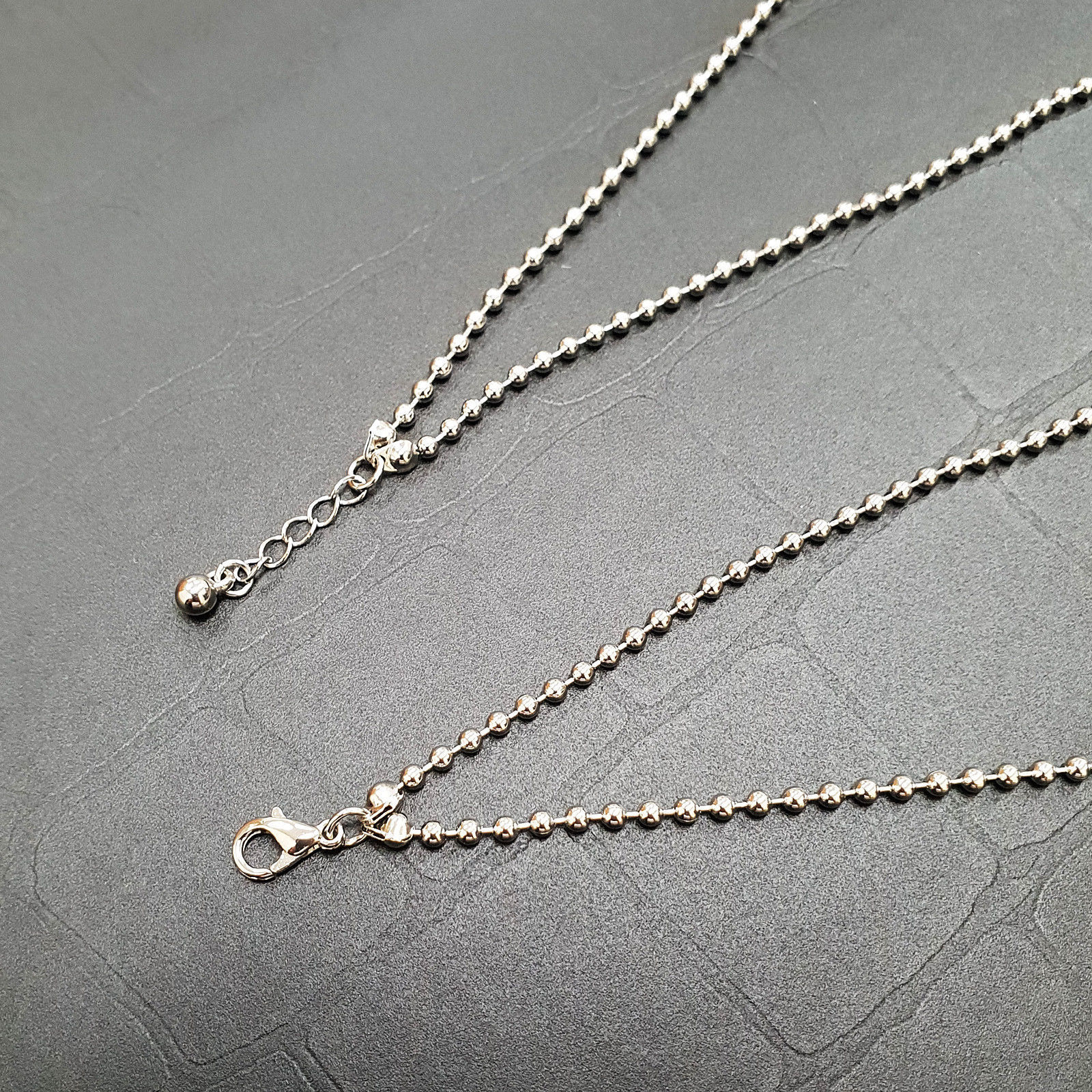 Multi-Strand Ball Chain Necklace Choker Layered Necklaces Imitation Pearl N15