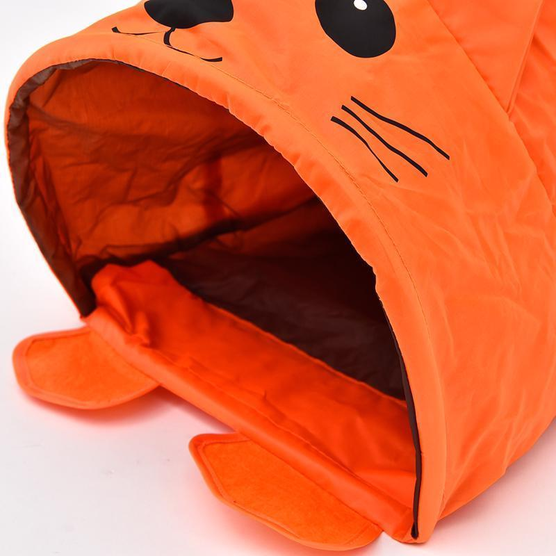 Pet Cat Toys Cute Mouse Tunnels Orange Color Tent Easy House For Small Dog Beds