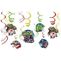 Epic Avengers Hanging Swirls Birthday Party Decorations 12 Piece New - $4.90