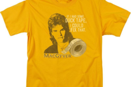 MacGyver Retro 80's action adventure TV series graphic gold t-shirt CBS1643 image 3