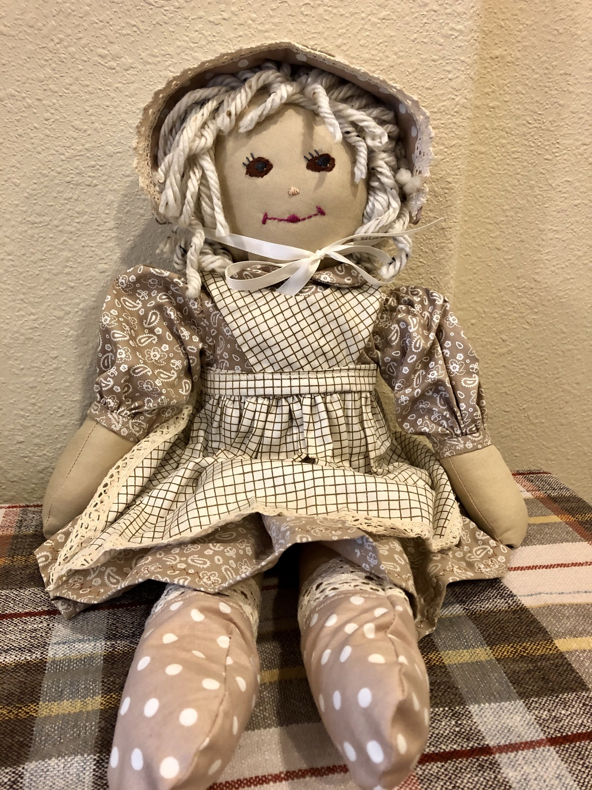 "Primary image for Handmade Cloth Rag Doll Soft Cuddly Handcrafted Stuffed 18"" Doll"