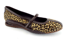 New COLE HAAN Size 7.5 BRIA Leopard Calf Hair Mary Jane Ballet Flats Sho... - $74.00