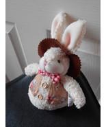 "Hobby Lobby Plush Bunny Rabbit With Tags 6"" tall Stuffed Animal Toy - $6.59"