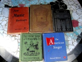 Lot of 5 Music Education Books 1913-1955 primary to high school singing ... - $19.59