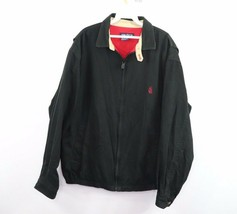 Vintage Años 90 Nautica Hombre XL Spell Out Velero Cremallera Lona Bomber Jacket - $53.36
