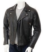 QASTAN Men's New Black Double Breasted Biker/ Moto / Racing Leather Jack... - $169.00