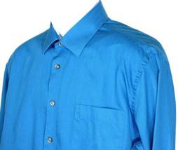 Joseph Abboud Men's Slim Fit Non-Iron Blue Button Front Shirt Size 16 x ... - $27.05 CAD
