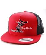 Ropesmart Rig Rider Logo Mesh Back Snapback Trucker Cap Hat  Red/Black OSFM - $18.04