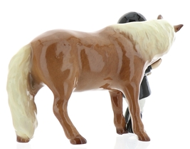 Hagen-Renaker Specialties Ceramic Horse Figurine Little Girl and Shetland Pony image 4
