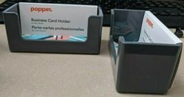 2- Poppin - Business card holder - 90 cards - dark gray - $14.84
