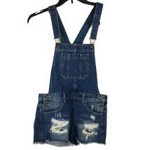 Forever21 Bib Shortalls Womens JR Size 27 Waist Distressed - $21.60