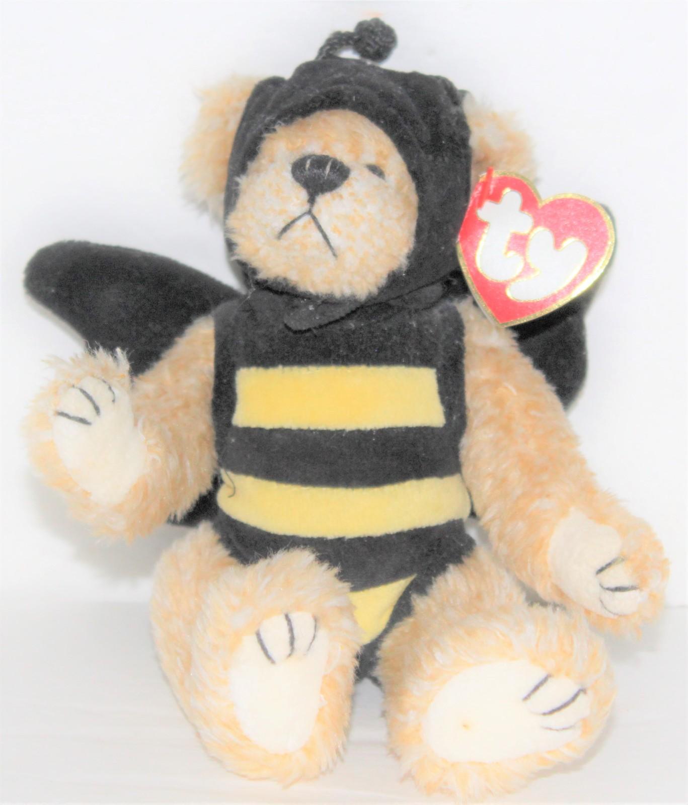 Ty Beanie Ballz ZIPS BUMBLE BEE Plush NWT NEW Round Ball