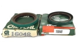 """LOT OF 2 NEW CHICAGO RAWHIDE 16048 OIL SEALS 1.650"""" X 2.1250"""" X 0.25"""""""