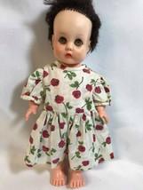 "Horsman Soft Rubber Doll In a Flower Dress Vintage 13"" Doll - $18.66"