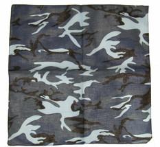"Wholesale Lot 6 22""x22"" Woodland Camo Camouflage Blue Light Blue Black B... - $17.77"