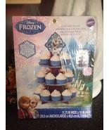 Disney Frozen Olaf Anna Elsa Cupcake Stand 3 Tier 2 Image Topper 24 Cupc... - $12.99