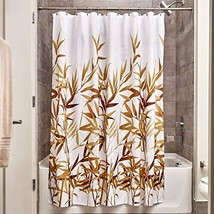 "InterDesign 36521 Anzu Fabric Shower Curtain  - Standard, 72"" x 72"", Brown - $10.16"
