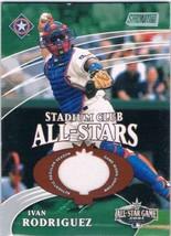 2002 Topps Stadium Club All Star Relics #SCASIR Ivan Rodriguez MEM /2400  - $12.62