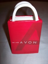 Avon 2002 President's Club Ceramic Gift Bag Red With White Handle - $7.95