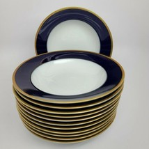 Rosenthal Cobalt/Gold Classic Rose Soup bowls (12) similar Claudine - $322.58