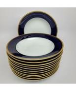 Rosenthal Cobalt/Gold Classic Rose Soup bowls (12) similar Claudine - $322.58