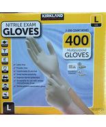 2 X 200 Kirkland Signature Disposable Nitrile Exam Gloves - 400 Count Large - $60.00