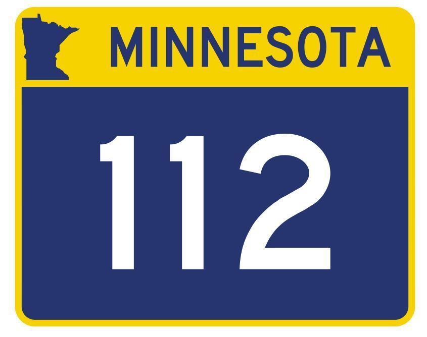 Minnesota State Highway 112 Sticker Decal R4950 Highway Route Sign