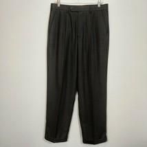 STANLEY BLACKER Mens Charcoal Stripe Dress Pants Tag Size 34X30 (Actual ... - $19.25