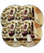 "Set of 4 TIN STOVETOP BURNER COVERS (2-10"", 2-8""), WINE & GRAPES  Range ... - £15.04 GBP"