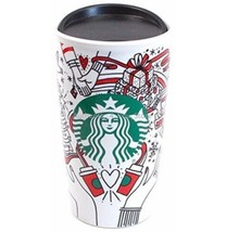 Starbucks Holiday 2017 Travel Tumbler Mug Coffee Cup Red Dot Mermaid Log... - $25.74
