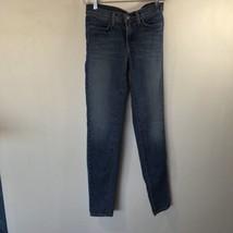 J Brand Women's Size 28x30 Chrissy Tuxedo Stripe Skinny Blue Jeans Bliss - $83.87