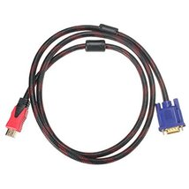 1.5m 1080P HDMI Male to VGA Male Video AV Converter Adapter Cable for DV... - $17.49